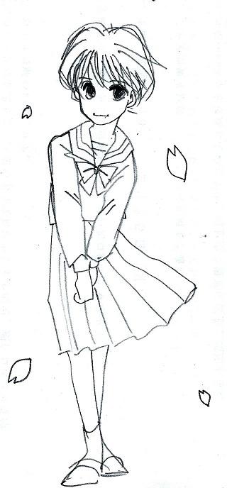 桜とセーラー服