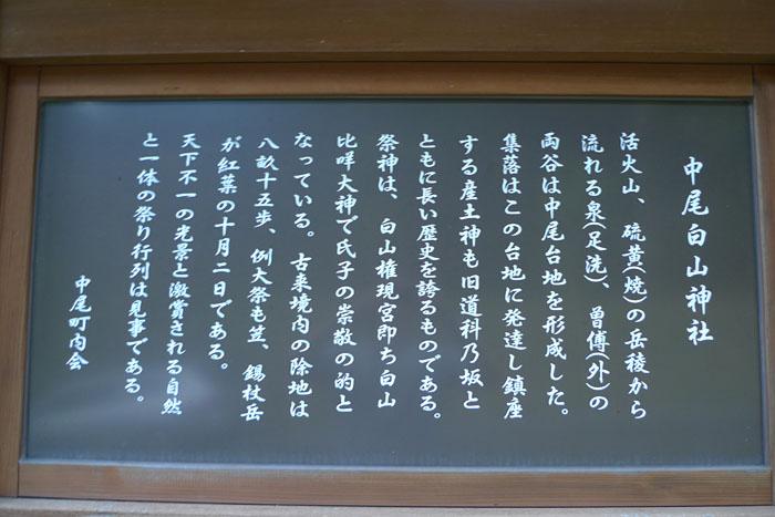 中尾白山神社 奥飛騨温泉郷 2