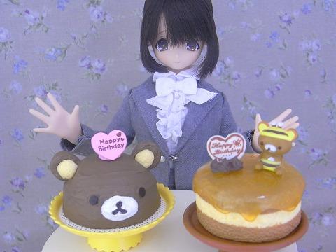 くまさんケーキでお祝い