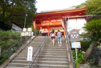 楼門への階段