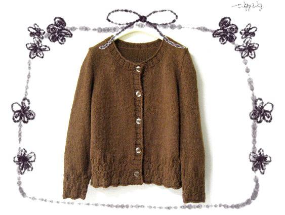 茶色のセーター