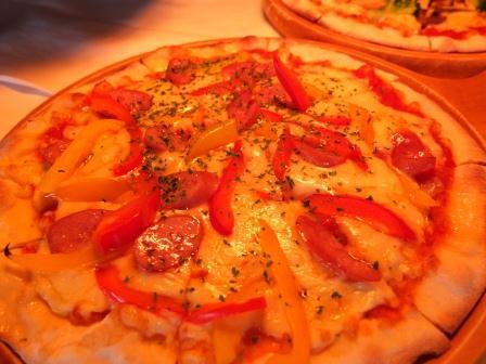 定番のピザ