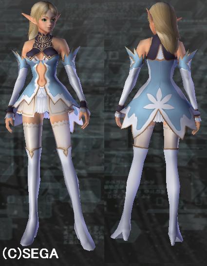 銀の森のエルフの王女服