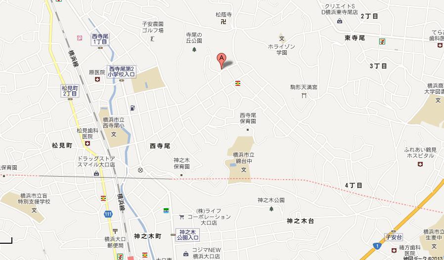 Nishiterao map