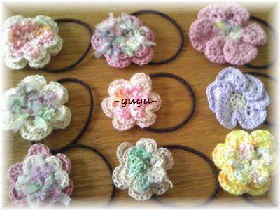 編みヘアゴム