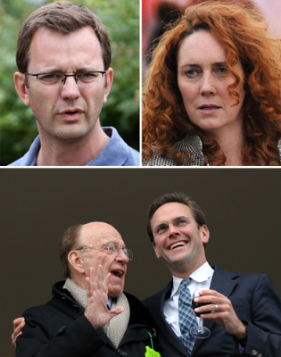 Andy Coulson and Rebekah Brooks Murdoch