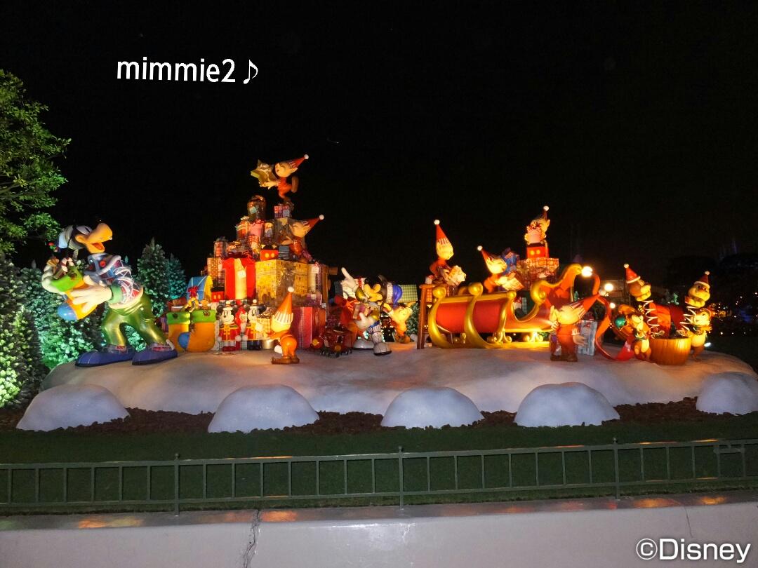 ランド☆閉園時間後のクリスマスイルミネーション♪