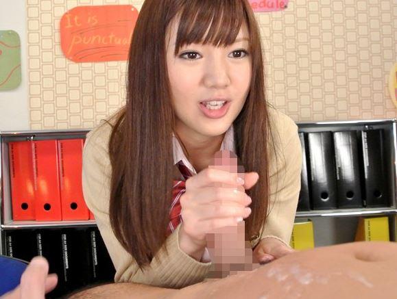 美少女JKの柚希あおいが紺ハイソックスでスゴテク足コキの足コキDVD画像2
