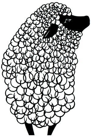 バケツブログ 15年の羊イラスト