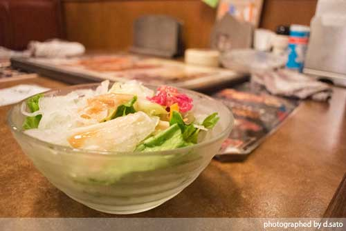 肉の万世 クーポン ポンパレ 夜ランチ サラダ 02