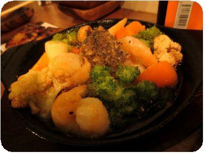 小海老とゴロゴロ野菜のアヒージョ