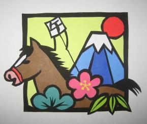2014-馬の切り絵