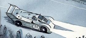 Porsche 956 from the racecar alphabet