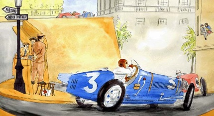 Bugatti Type 35 from the racecar alphabet