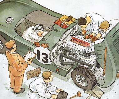 Jaguar C Type from the racecar alphabet