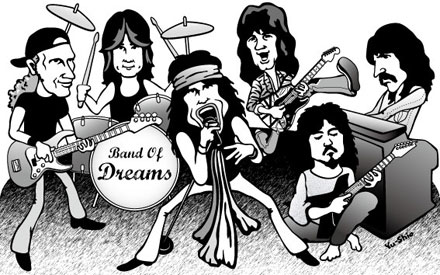 Jon Lord Eddie Van Halen Steven Tyler Billy Sheehan 高崎晃 樋口宗孝 caricature