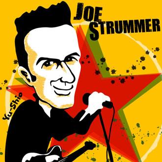 Joe Strummer Clash caricature