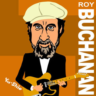 Roy Buchanan caricature