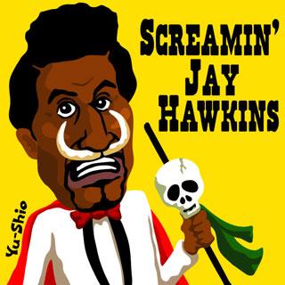 Screamin' Jay Hawkins caricature
