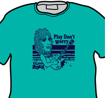 Mick Ronson EverydayRock T Shirt Caricature