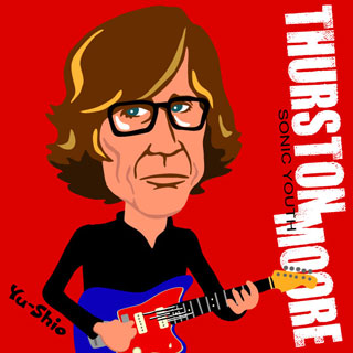 Thurston Moore Sonic Youth caricature