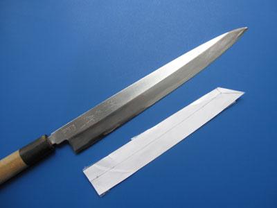 柳刃包丁の型直し2