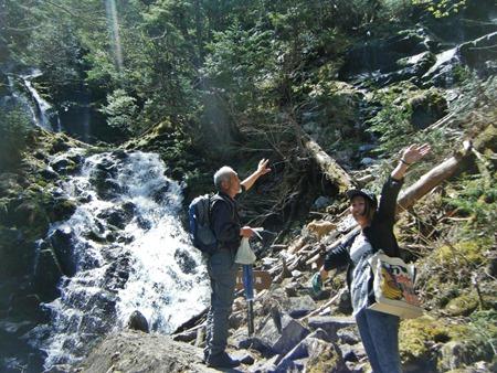 焼山沢の滝、到着