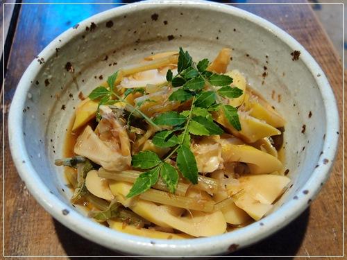 竹の子とフキの炊合せ