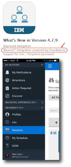 米IBMがOynxBeacon CMSをEventConnectアプリで採用!