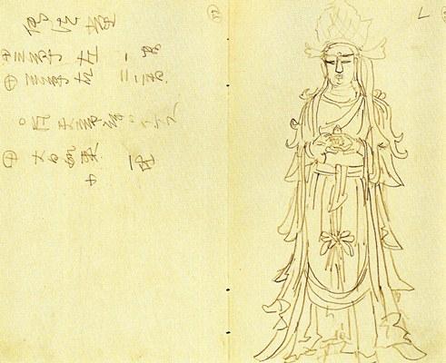 岡倉天心・奈良古社寺調査手録(明治19年)