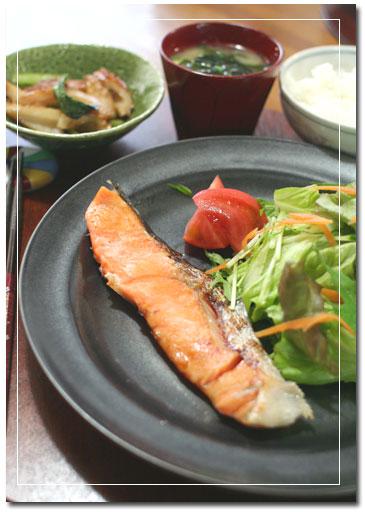 塩麹鮭定食。