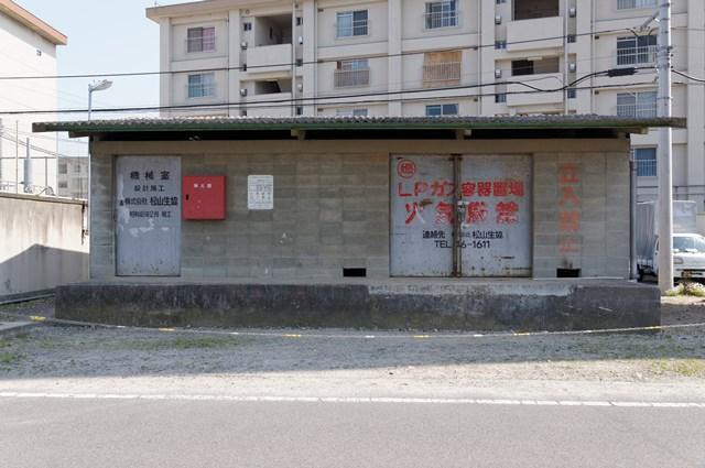 愛媛県営森松団地の給水塔機械室