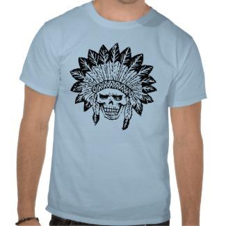 インディアンのスカル TEE シャツ