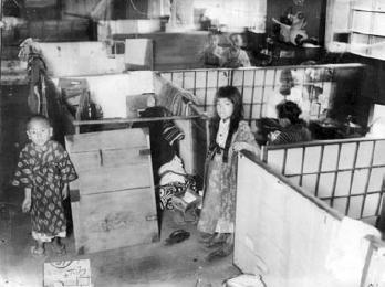 避難所の子供達(関東大震災)