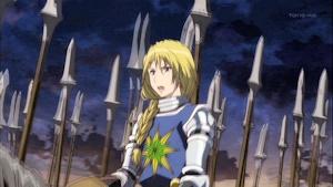 戦場に赴く女騎士