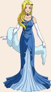ドレス姿のグリシーヌ