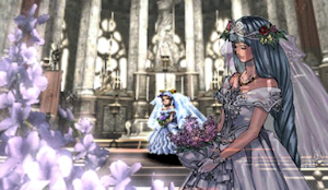 花嫁姿のレナス