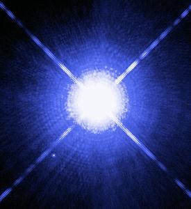 ハッブル宇宙望遠鏡で撮影したシリウス