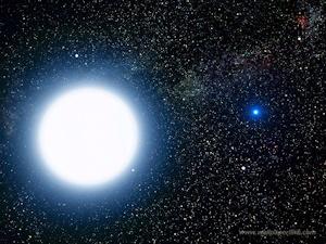 連星系のシリウスA(左)とシリウスB(右)