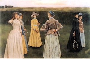 Memories (Lawn Tennis) by Fernand Khnopff