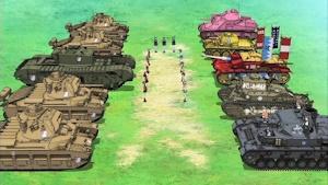英国戦車で固めたグロリアーナとどう見てもイロモノの大洗女子