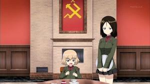 隊長カチューシャと副隊長ノンナ