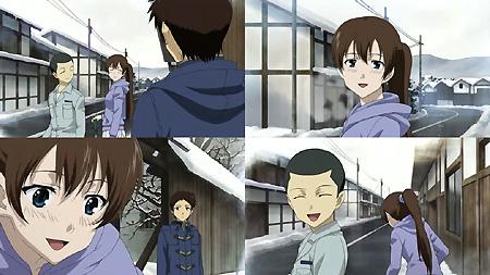 雪かきする比呂美