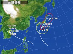 台風26号の進路