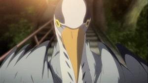 緒花の天敵青鷺