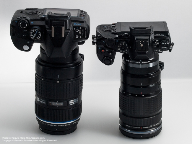 ED 50-200mm F2.8-3.5 SWDとED 40-150mm F2.8 PROを比較