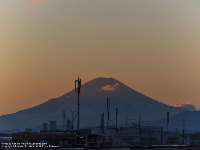 アンテナと富士山