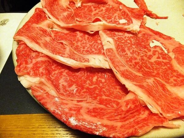 和牛のしゃぶしゃぶ肉