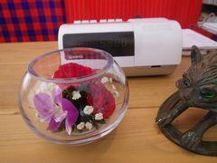 [写真]Mr.Tから頂いた開園祝いのプリザーブドフラワー