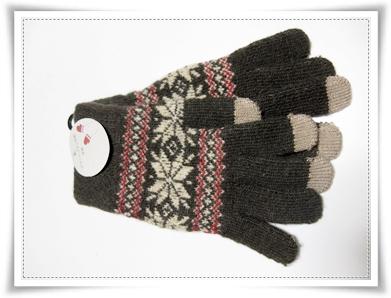 315円のスマホ対応手袋を買いました♪感想。グレイ・トナカイとかチャコールグレイ・トナカイとかチャコールグレイ雪柄が欲しいッ!!ので増産してクダサイッ。(>Д<)